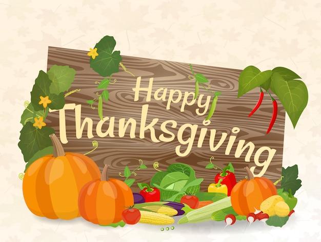 Illustrazione vettoriale sul tema del giorno del ringraziamento.