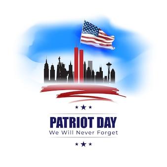 Illustrazione vettoriale per il giorno del patriota degli stati uniti