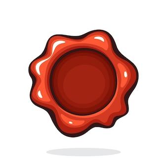 Illustrazione vettoriale sigillo di cera rossa vintage timbro di sicurezza per posta retrò simbolo di messaggio segreto