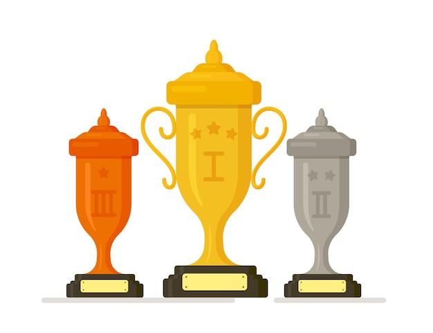 Illustrazione vettoriale del distintivo del trofeo del vincitore