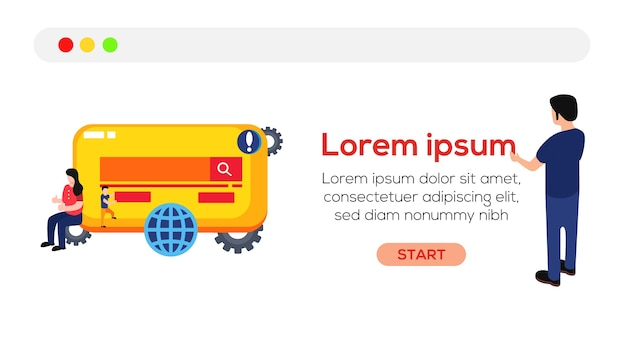 Illustrazione vettoriale www website design