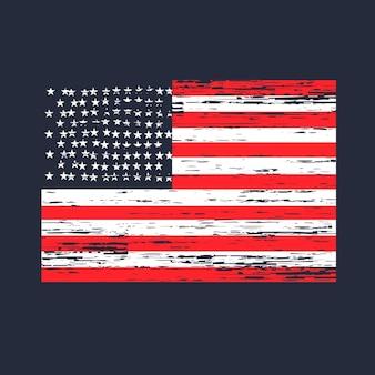 Immagine vettoriale della trama di emergenza bandiera americana