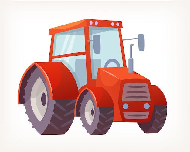 Immagine vettoriale del classico trattore rosso per l'agricoltura