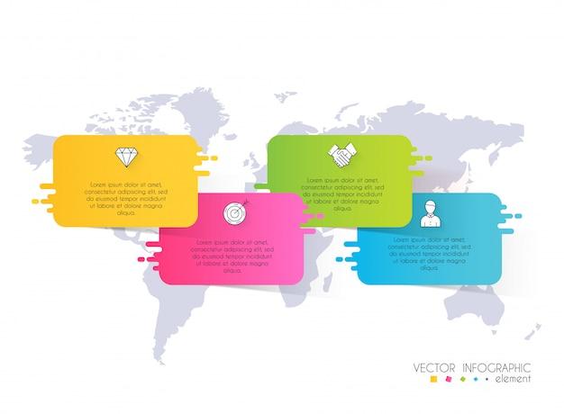 Grafica di informazioni vettoriali per presentazioni aziendali.