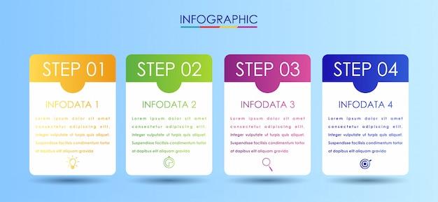 Modello di disegno vettoriale etichetta infografica con icone
