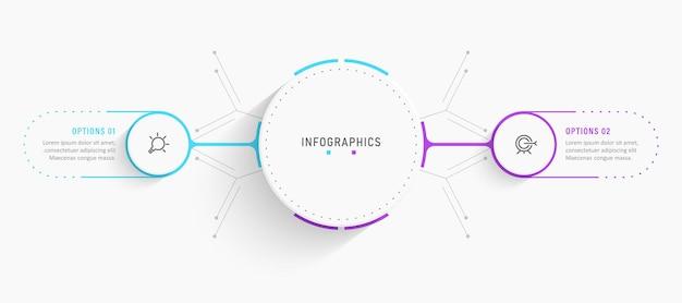 Progettazione di etichette infografiche vettoriali