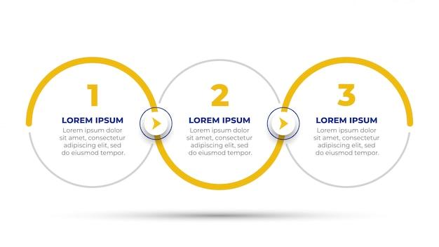 Progettazione di timeline infografica vettoriale con opzioni di numero.