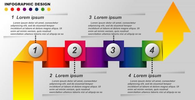 Modello di grafica di informazioni vettoriali. Vettore Premium