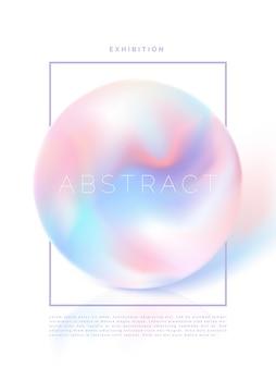 Modello di brochure o copertina di un libro con perle iridescenti o olografiche vettoriali