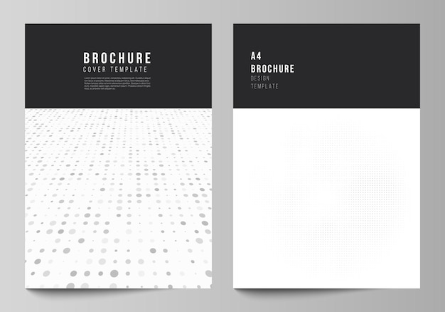 Layout vettoriale di una copertina mockup modelli di progettazione per brochure flyer layout copertina design book design...