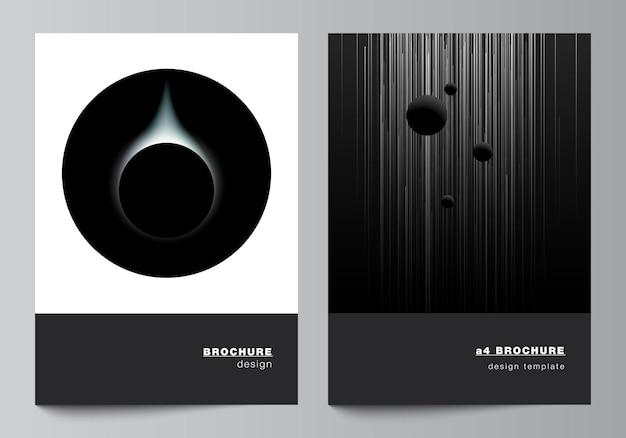 Layout vettoriale di un formato copertina mockup modelli di progettazione per brochure layout volantino copertina de...