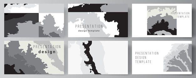 Layout vettoriale delle diapositive di presentazione design modelli di business modello multiuso per la presentazione brochure brochure copertina paesaggio sfondo decorazione mezzitoni modello grunge texture