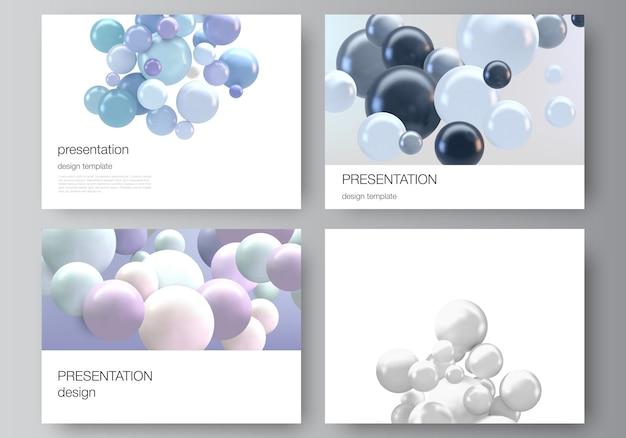 Il layout vettoriale delle diapositive della presentazione progetta modelli di business