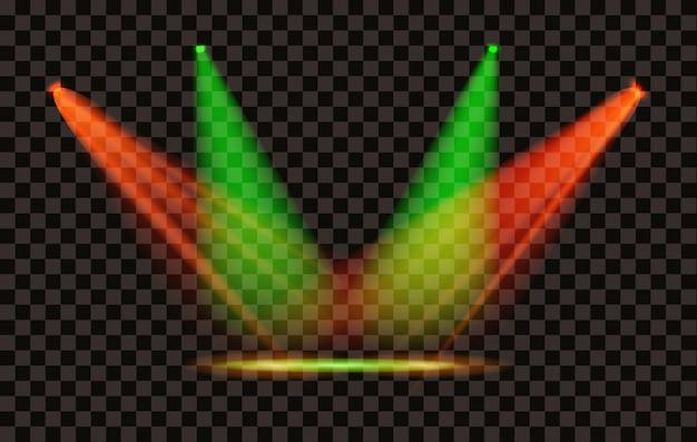 Faretto con effetto luce vettoriale con sfondo trasparente