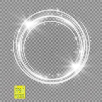 Anello luminoso vettoriale su sfondo trasparente