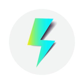 Simbolo del fulmine vettoriale per l'interfaccia di ricarica wireless dell'icona dell'energia elettrica della stazione dell'auto caricata