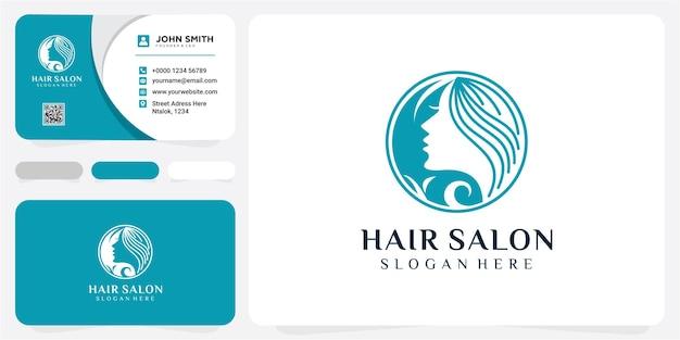 Design del logo vettoriale per salone di bellezza, parrucchiere, cosmetici. illustrazione dell'icona del logo della spa naturale