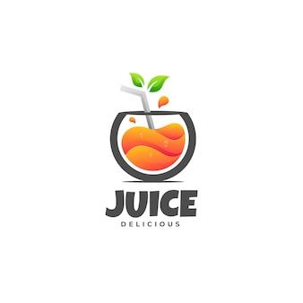 Vector logo illustrazione succo gradiente stile colorato
