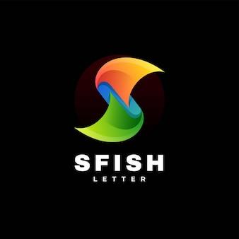 Vector logo illustrazione lettera s gradiente stile colorato