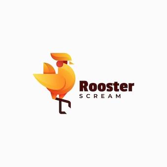 Vector logo illustrazione gallo gradiente stile colorato