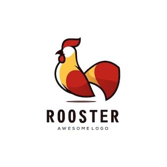Vector logo illustrazione gallo semplice stile mascotte