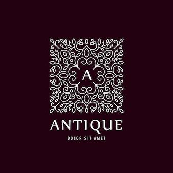 Illustrazione di lusso vintage logo vettoriale