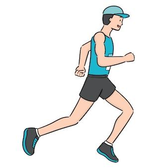Vettore di uomo che corre