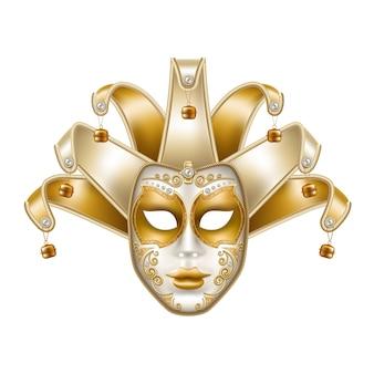 Carnevale del brasile della maschera veneziana di martedì grasso di vettore