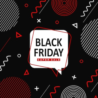 Vettore memphis black friday background