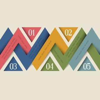 Vector infografica minimal design