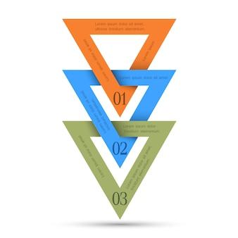 Infografica minima vettoriale con triangoli