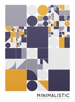 Manifesto minimalista di vettore con forme semplici. geometria procedurale