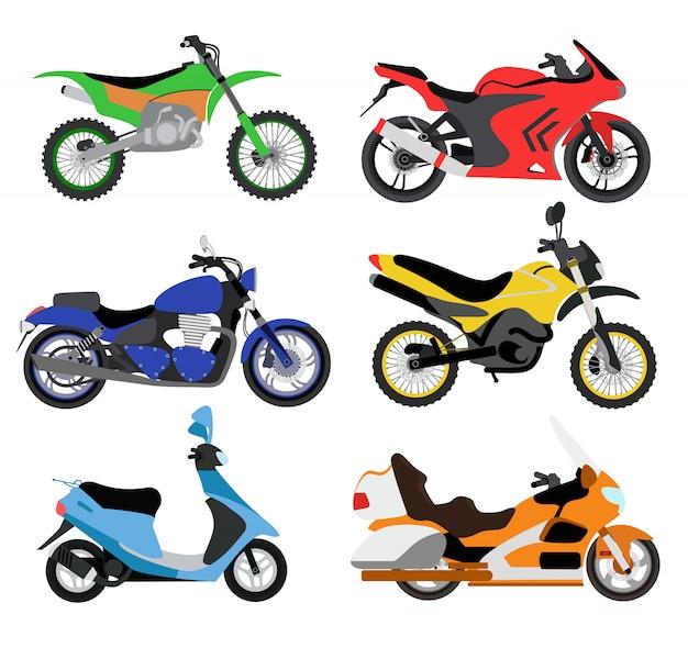 Illustrazione di motocicli di vettore Vettore Premium