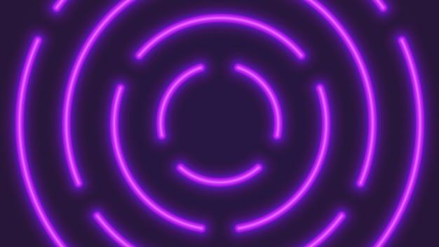 Fondo astratto dei tubi circolari al neon di illuminazione di vettore