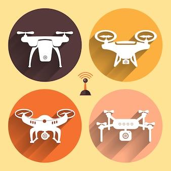 Droni oggetto vettoriale