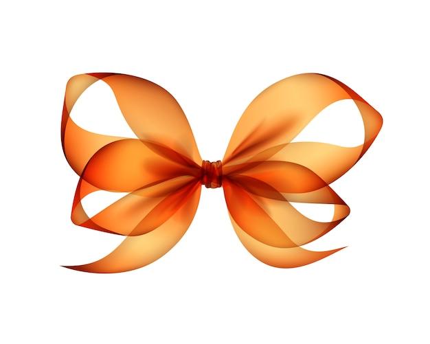 Fiocco trasparente arancione di vettore
