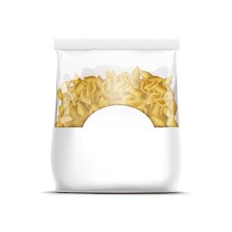 Modello d'imballaggio delle coperture della pasta di vettore isolato