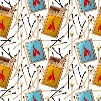 Modello vettoriale di scatole di fiammiferi