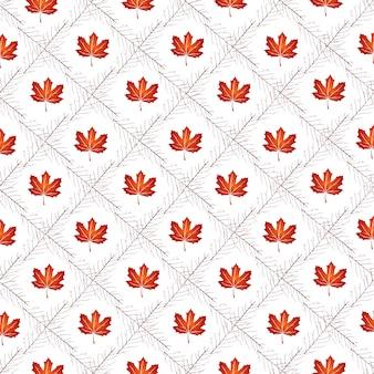 Modello vettoriale con foglie d'autunno, sfondo floreale, caduta autmn.
