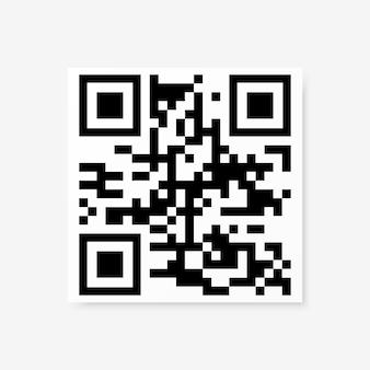 Esempio di codice qr vettoriale per la scansione di smartphone isolato su sfondo bianco.