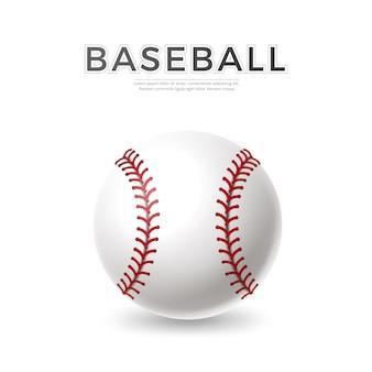 Vector realistico palla da baseball