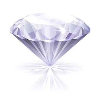 Illustrazione vettoriale diamante realistico