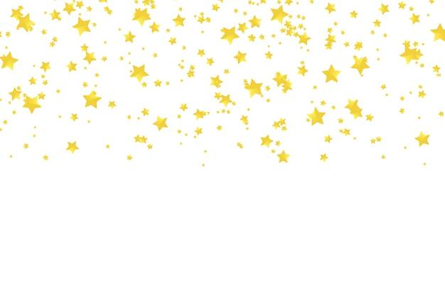 Coriandoli di stelle dorate realistiche di vettore