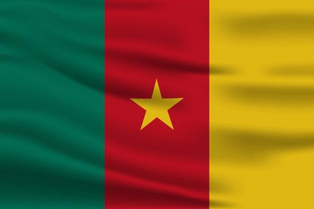 Bandiera del camerun isolato realistico di vettore