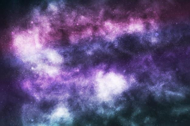 Galassia cosmica isolata realistica di vettore