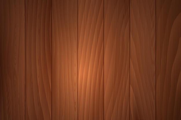Struttura in legno realistica vettoriale superficie del tavolo o della parete in legno marrone naturale