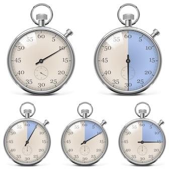Set di cronometro retrò vettoriale