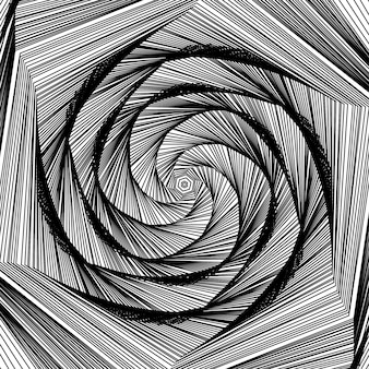Vector forme rotonde swirl design modello shell pattern abstract tunnel background