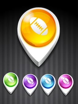 Icona di gioco di rugby vettoriale