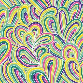 Reticolo astratto senza giunte di vettore. illustrazione luminosa colorata con onde